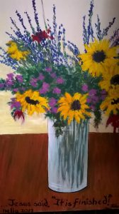 Sunflowers-painting